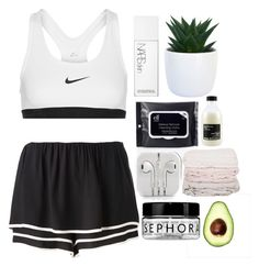Sporty Morning by pinkdaisyprincess on Polyvore featuring moda, See by Chloé, NIKE, Davines, Sephora Collection, NARS Cosmetics and Gap