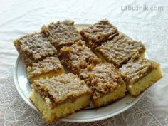 Recept: Ořechové řezy na Labužník.cz Czech Recipes, Russian Recipes, Sweet Recipes, Banana Bread, Ale, French Toast, Sweets, Baking, Czech Food