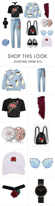 """BUNNY SET - ROSE & JEANS"" by sweetlittlebunny on Polyvore featuring moda, Gucci, Guerlain, Monki, Armitage Avenue, Matthew Williamson i CLUSE"