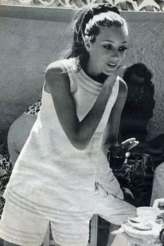 Marisa Berenson ponytail, c. 1970's.