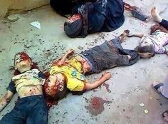 Dead #Palestinian children and their mothers bombed by #Israel yesterday. 1 kid was a Brazilian fan #GazaUnderAttack