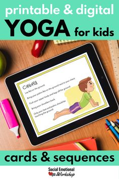 Print and digital yoga for kids in the classroom or at home. Perfect to help kids calm down through simple poses and sequences. Great for brain breaks during the day in school or with distance learning. Download and start using these today to give your students and children simple strategies to use to help them manage feelings and stay calm. Counseling Activities, Hands On Activities, School Counseling, Social Communication Disorder, Emotional Awareness, How To Treat Anxiety, Mindfulness Activities, Social Emotional Learning, Stay Calm