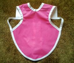 Waterproof Bapron/The Baby Apron - 24 months - 3T, Hot Pink with White Pindots by GrandmaSewsBest on Etsy