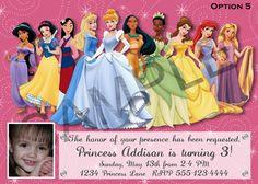 Disney Princess Party Invitations Free Printable