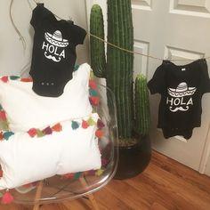 Hola! Como estas? Have you ordered your Cinco de Mayo outfit for your baby yet? #cincodemayo #onesie #baby #babyonesie #hola
