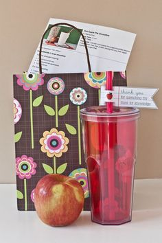 Lovely teacher gift idea from Peas & Thank You! Thx @Sarah Matheny for the inspiration!
