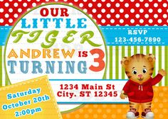 195 Best Daniel Tigers Birthday Party Images In 2014