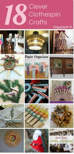 18 clever clothespin crafts