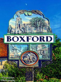 Boxford, Suffolk. Village Sign