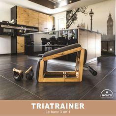 Le TriaTrainer : le banc d'abdos 3 en 1 au design minimaliste et fonctionnel. Polyvalent, il allie élégance et robustesse pour des séances fitness. #nohrd #fitness #design #waterrower #intérieur