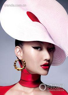 Harper's Bazaar. Cool Hat!            MH