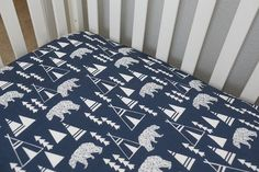 Tribal Bear Teepee Fitted Crib Sheet/Changing by PeasnCarrotsBaby