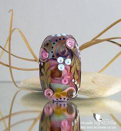 Big handmade lampwork bead focal  O l d   R o m a by calypsosbeads, $35.00