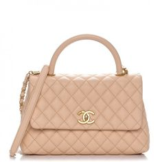 e14756d4a CHANEL Caviar Quilted Small Coco Handle Flap Light Beige. Kabelky ChanelMóda