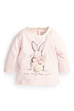 Buy Pink Stripe Bunny T-Shirt (0-18mths) from the Next UK online shop