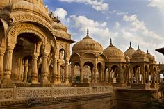 Royal Cenotaphs of Jaisalmer, Rajasthan, India