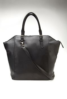 Structured Faux Leather Tote | FOREVER21 - 1000098916