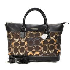 Discount Coach Logo In Monogram Small Coffee Totes BYG Clearance