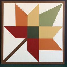 Barn Quilt Designs, Barn Quilt Patterns, Quilting Designs, Star Quilts, Quilt Blocks, Orange Quilt, Painted Barn Quilts, Barn Signs, Barn Art