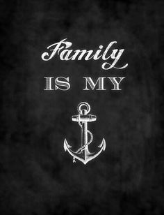 Family is my anchor. Art Print by quellebelle Great Quotes, Quotes To Live By, Inspirational Quotes, Find Quotes, True Quotes, Motivational Quotes, The Words, Anchor Quotes, Anchor Tattoo Quotes