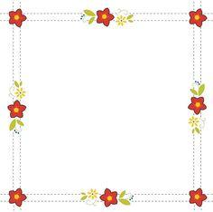 Aunt Martha's Quilting Fabric - Retro Flower Print