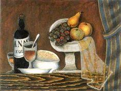 Antonín Procházka - Stříbrná miska, 1926 Cubism, Anton, Still Life, Painting, Painting Art, Paintings, Painted Canvas, Drawings