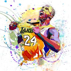 Kobe Bryant Shattered Drawing by Katia Skye