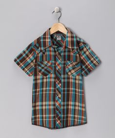 Knuckleheads Brown What the? Rockabilly Button-Up Shirt