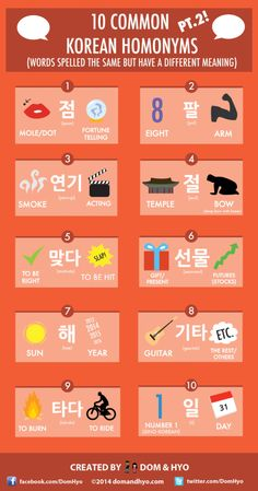 10 Common Korean Homonyms Pt. 2! (Words Spelled The Same But Have A Different Meaning)