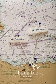 Very cute escort card display for a nautical themed #wedding ! Micheal Daigian Design