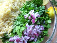Orzo & Fresh Spinach Salad