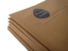 calendar A4, package, craft paper, stamp