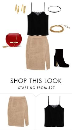 """Cocktail Attire"" by suetables on Polyvore featuring MANGO and Angela Valentine Handbags"