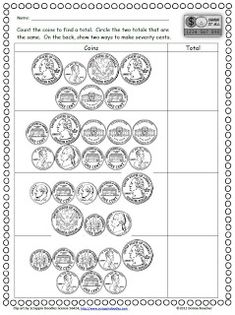 2nd grade money worksheets counting money to 2 sheet 2 marvelous math pinterest count. Black Bedroom Furniture Sets. Home Design Ideas