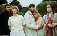 The Ken Russell movie - Women in Love - 1969 staring L-R Oliver Reed, Glenda Jackson, Alan Bates and Jennie Linden (that's actress Eleanor Bron on the far right) Oliver Reed, Love Film, Love Movie, Eleanor Bron, Film Alice In Wonderland, Alan Bates, Glenda Jackson, Ken Russell, The Paper Bag