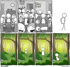 funny-introvert-man-party-forest-comic