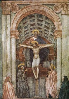 Masaccio - Sveto Trojstvo, 1425., Santa Maria Novella, Firenca
