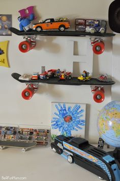 Skateboard Rooms mommo design: recycling ideas - skateboard shelves   kids