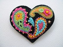Time and patience to make this beautiful piece.  This site is loaded with felted and beaded things. thanks Janet.