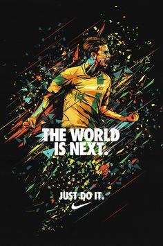 Nike. Brett Holman Poster by Tim Chenery, via Behance