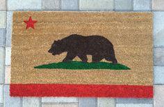 California Bear Flag Doormat