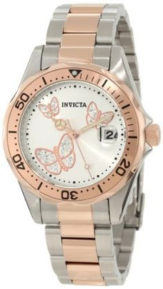 Women's Wrist Watches - Invicta Womens 12504 Pro Diver Silver Dial Two Tone Watch >>> Click image to review more details.
