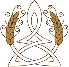 2 Color Celtic Wheat on Trinity Embroidery Design