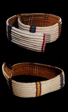 Large old belt/girdle from the Zulu people of South Africa, made of vegetable fiber and glass beads. African Beads, African Jewelry, Ethnic Jewelry, Beaded Jewelry, Desert Clothing, African Art Projects, Folk, Body Adornment, Woven Belt