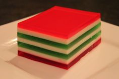 Christmas Ribbon Jello my moms best dessert! My kids request this every year!
