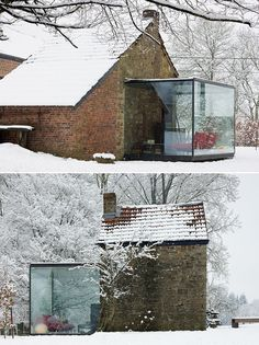 I need a glass room in my house Extension Veranda, Glass Extension, Porch Extension, Cottage Extension, Houses Architecture, Interior Architecture, Future House, My House, Porche