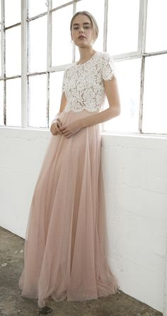 Bridesmaid Separates // Kenzie Top + Winslow Skirt by Jenny Yoo // Lace Topper + Tulle Skirt