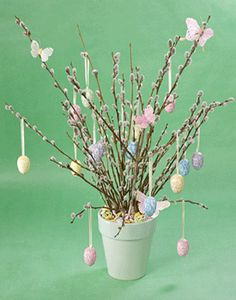 branch decorating ideas | ... , ribbons and Easter eggs on branches, eco friendly Easter ideas