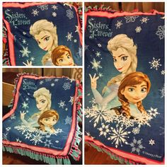 Disney Frozen Reversible Double Fleece Fringe Blanket.  www.stylemcollection.com  Message me if you are interested.   stylemcollection@gmail.com  Shipping within the United States Only.