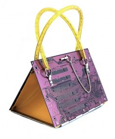 "Upcycled Bag ""Leiterplatte"" (Conductor Board) (purple) by TRASH DESIGN 